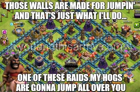 hog rider vs maxed walls